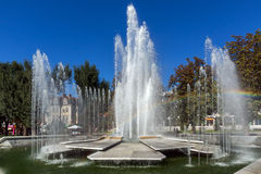 Πηγή στο κέντρο Pleven, Βουλγαρία Στοκ φωτογραφίες με δικαίωμα ελεύθερης χρήσης