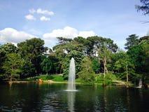 Πηγή στο πάρκο Μαδρίτη Ισπανία Retiro Στοκ εικόνες με δικαίωμα ελεύθερης χρήσης