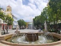 Πηγή στο παλαιό SAN Juan, plaza Πουέρτο Ρίκο Στοκ φωτογραφίες με δικαίωμα ελεύθερης χρήσης