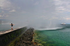 Πηγή της λίμνης Γενεύη Στοκ φωτογραφία με δικαίωμα ελεύθερης χρήσης