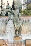 Πηγή της Βαλένθια Neptuno σε Plaza de Λα virgen Στοκ Εικόνα