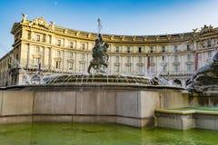 Πηγή του Naiads στην πλατεία Repubblica της Ρώμης, Ιταλία Στοκ Εικόνες