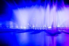 Πηγή φωτός και μουσικής Στοκ Εικόνες