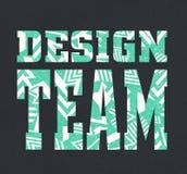 """πηγή """"ομάδων σχεδίου """"με το γεωμετρικό σχέδιο διανυσματική απεικόνιση"""