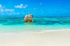 Πηγή Anse d'Argent - παραλία στο Λα Digue νησιών στις Σεϋχέλλες Στοκ Εικόνες