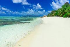 Πηγή Anse d'Argent - παραλία στο Λα Digue νησιών στις Σεϋχέλλες Στοκ φωτογραφία με δικαίωμα ελεύθερης χρήσης