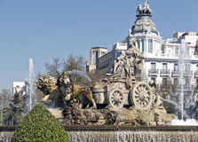 Πηγή Cibeles στη Μαδρίτη Στοκ Εικόνα