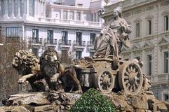 Πηγή Cibeles στη Μαδρίτη, Ισπανία Στοκ φωτογραφίες με δικαίωμα ελεύθερης χρήσης