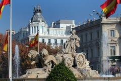 Πηγή Cibeles Plaza de Cibeles στη Μαδρίτη, Ισπανία Στοκ φωτογραφίες με δικαίωμα ελεύθερης χρήσης