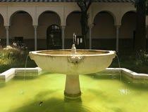 Πηγή Convento Σάντα Κλάρα Σεβίλη Patio Στοκ Εικόνες