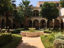 Πηγή Convento Σάντα Κλάρα Σεβίλη Patio Στοκ Εικόνα