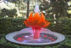 Πηγή Lotus στο ξενοδοχείο και τη χαρτοπαικτική λέσχη Wynn Στοκ φωτογραφίες με δικαίωμα ελεύθερης χρήσης