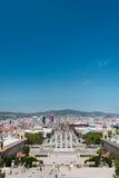 Πηγή Montjuic Plaza de Espana στη Βαρκελώνη Στοκ Φωτογραφία