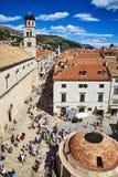 Πηγή Onofrio ` s και φραντσησθανό μοναστήρι, Dubrovnik Στοκ Εικόνες