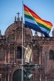 Πηγή Pachacutec Inca Plaza de Armas Cusco, Περού Στοκ εικόνες με δικαίωμα ελεύθερης χρήσης