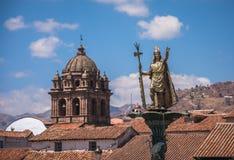 Πηγή Pachacutec Inca Plaza de Armas Cusco, Περού Στοκ Εικόνες