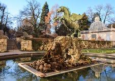 Πηγή Pegasus στον κήπο Mirabell Στοκ φωτογραφίες με δικαίωμα ελεύθερης χρήσης