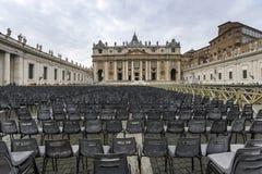 πηγή Peter Ρώμη s τετραγωνικό ST Βατικανό πόλεων bernini βασιλικών ανασκόπησης Στοκ Φωτογραφίες
