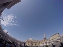 πηγή Peter Ρώμη s τετραγωνικό ST Βατικανό πόλεων bernini βασιλικών ανασκόπησης Στοκ Φωτογραφία