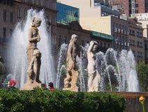 Πηγή, Placa de Catalunya, Βαρκελώνη Στοκ εικόνα με δικαίωμα ελεύθερης χρήσης