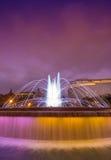 Πηγή Plaza de Catalunya στη Βαρκελώνη, Ισπανία Στοκ εικόνα με δικαίωμα ελεύθερης χρήσης