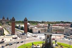 Πηγή Plaza de Espana στη Βαρκελώνη Ισπανία Στοκ φωτογραφία με δικαίωμα ελεύθερης χρήσης