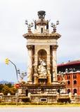 Πηγή Plaza de Espana στη Βαρκελώνη Στοκ φωτογραφία με δικαίωμα ελεύθερης χρήσης