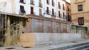 Πηγή Plaza del Coso viejo-Antequera Ανδαλουσία-ΙΣΠΑΝΙΑ Στοκ Εικόνα