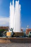 Πηγή Soleil στο μέρος Massena στη Νίκαια, Γαλλία Στοκ Φωτογραφία