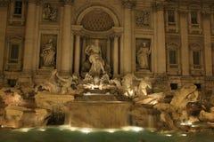 Πηγή TREVI τη νύχτα, Ρώμη, Ιταλία Στοκ φωτογραφίες με δικαίωμα ελεύθερης χρήσης