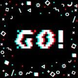 Πηγαίνετε έμβλημα εικονοκυττάρου Στοκ εικόνα με δικαίωμα ελεύθερης χρήσης