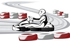 Πηγαίνετε -πηγαίνω-kart Στοκ εικόνες με δικαίωμα ελεύθερης χρήσης