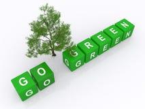 Πηγαίνετε πράσινη έννοια Στοκ Φωτογραφίες