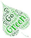 Πηγαίνετε πράσινη οικολογία ελεύθερη απεικόνιση δικαιώματος