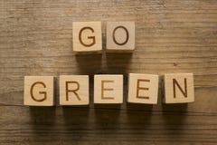 πηγαίνετε πράσινος ανακύκ Στοκ φωτογραφίες με δικαίωμα ελεύθερης χρήσης