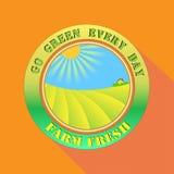 Πηγαίνετε πράσινος κάθε μέρα καλλιεργεί φρέσκο απεικόνιση αποθεμάτων