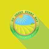Πηγαίνετε πράσινος κάθε μέρα απεικόνιση αποθεμάτων