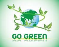 Πηγαίνετε πράσινος κόσμος Στοκ Εικόνες