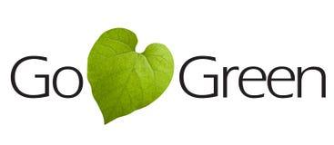 πηγαίνετε πράσινος τύπος Στοκ φωτογραφία με δικαίωμα ελεύθερης χρήσης