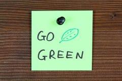 πηγαίνετε πράσινος Στοκ φωτογραφία με δικαίωμα ελεύθερης χρήσης