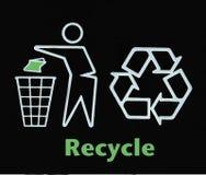 Πηγαίνετε πράσινο ανακύκλωσης σημάδι στοκ εικόνες με δικαίωμα ελεύθερης χρήσης