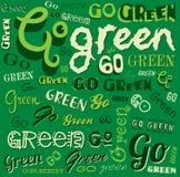 Πηγαίνετε πράσινο υπόβαθρο Eco Word Στοκ εικόνα με δικαίωμα ελεύθερης χρήσης