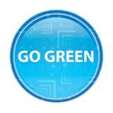 Πηγαίνετε πράσινο floral μπλε στρογγυλό κουμπί διανυσματική απεικόνιση