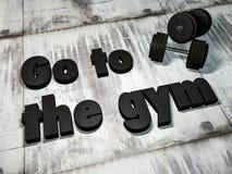 Πηγαίνετε στη γυμναστική διανυσματική απεικόνιση
