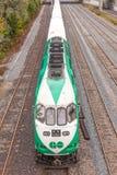 Πηγαίνετε τραίνο διέλευσης στο Τορόντο, Καναδάς Στοκ Φωτογραφίες