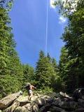 πηγαίνοντας βουνό επάνω Στοκ εικόνες με δικαίωμα ελεύθερης χρήσης