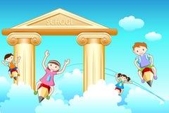 πηγαίνοντας σχολείο κατ διανυσματική απεικόνιση