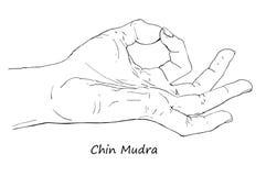 Πηγούνι ή Gyan Mudra διανυσματική απεικόνιση