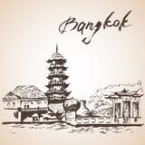 Πηγούνι Kor Μπανγκόκ, Ταϊλάνδη Chee διανυσματική απεικόνιση