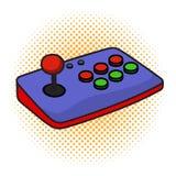 Πηδάλιο ελεγκτών παιχνιδιών Arcade στο απομονωμένο άσπρο υπόβαθρο στοκ εικόνα